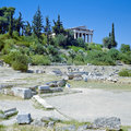 Temple of Hephaestus in Athens, Greece Stock Photography