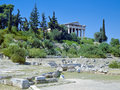 Temple of Hephaestus in Athens, Greece Royalty Free Stock Photos