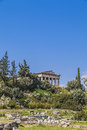 Temple of hephaestus athens greece Royalty Free Stock Photos
