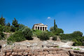 The Temple of Hephaestus in Athens, Greece. Stock Photography