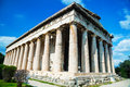 Temple of hephaestus in athens greece on a sunny day Royalty Free Stock Photo