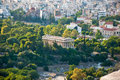 Temple of hephaestus athens panoramic view Stock Photos