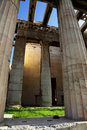Temple of Hephaestus, Hephaisteion Stock Photo