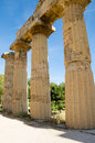 The temple of hera temple e at selinunte sicily italy Royalty Free Stock Image