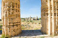 The temple of hera temple e at selinunte sicily italy remains Royalty Free Stock Images