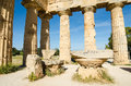 The temple of hera temple e at selinunte sicily italy remains Stock Photography