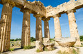The temple of hera temple e at selinunte sicily italy remains Stock Photo