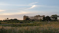 The temple of hera temple e at selinunte sicily italy remains Stock Images
