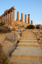 The Temple of Hera at the Valley of the Temples Royalty Free Stock Photo