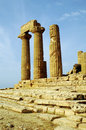 Temple of Heracles, Agrigento Stock Images