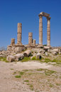 Temple of hercules amman on the citadel hill in jordan Stock Photography