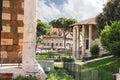 Temple of hercules tempo di ercole vincitore rome italy may and the portun do portunus in Stock Image