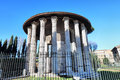 The temple of hercules victor in rome ancient edifice located piazza bocca della verità italy Royalty Free Stock Image