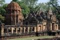 Temple hindou de prasat muang tam sur la thaïlande Images libres de droits