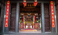 The temple in hoi an ancient town vietnam is taken Stock Image