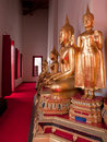 Temple interior at Wat Mahathat in Bangkok Royalty Free Stock Photo