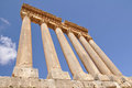 Temple of Jupiter in Baalbek Stock Photos