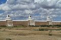 The temple of karakorum in mongolia Royalty Free Stock Image
