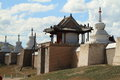 The temple of karakorum in mongolia Stock Images