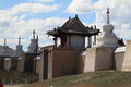 The temple of karakorum in mongolia Stock Photos