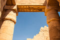 Temple of karnak egypt exterior elements Royalty Free Stock Image