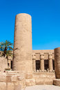 Temple of karnak egypt exterior elements Stock Image