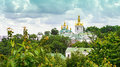 Temple of kiev pechersk lavra near far caves Royalty Free Stock Photo