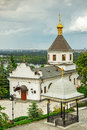 Temple of kiev pechersk lavra near far caves Stock Images