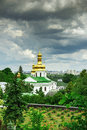 Temple of kiev pechersk lavra near far caves Royalty Free Stock Image