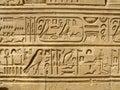 Temple of Kom Ombo, Egypt: ancient egyptian hyeroglyphs Royalty Free Stock Photo