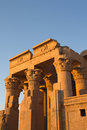 Temple of Kom Ombo in sunset light Royalty Free Stock Photos