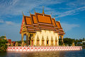 Temple on the lake in Koh Samui, Thailand Stock Photos
