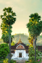 Temple in laos buddhist luang prabang Stock Photography