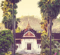Temple in laos buddhist luang prabang Royalty Free Stock Photography