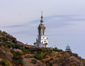 Temple lighthouse church malorechenskoe crimea Stock Photo