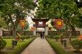 Temple of literature in hanoi vietnam Stock Image