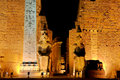 Temple of Luxor by night Royalty Free Stock Image