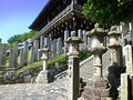Temple in nara stone lanterns near the japan Stock Photography