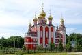 Temple new martyrs and confessors russian cheboksary chuvashia russia Stock Photo