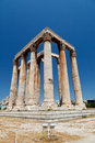 Temple of Olympian Zeus Royalty Free Stock Image