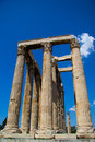 Temple of olympian zeus ancient athens greece Royalty Free Stock Photos