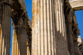 Temple of olympian zeus ancient athens greece Royalty Free Stock Image