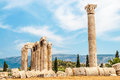 The temple of olympian zeus in athens Royalty Free Stock Images
