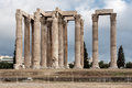 Temple of olympian zeus athens the archaeological site the with its corinthian colonnade greece Stock Image