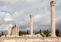 Temple of olympian zeus athens the archaeological site the with its corinthian colonnade greece Royalty Free Stock Photography