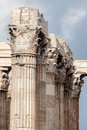Temple of olympian zeus athens the archaeological site the with its corinthian colonnade greece Stock Photography