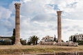 Temple of olympian zeus athens the archaeological site the with its corinthian columns greece Royalty Free Stock Photo