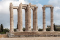 Temple of olympian zeus athens the archaeological site the with its cornthian colonnade greece Royalty Free Stock Photo