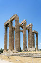 Temple of olympian zeus athens the is a colossal ruined in the centre the greek capital that was dedicated to Stock Photo