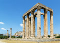 Temple of olympian zeus athens the is a colossal ruined in the centre the greek capital that was dedicated to Royalty Free Stock Photo